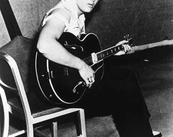 Elvis Presley , Elvis before going onstage 1950's  # 2