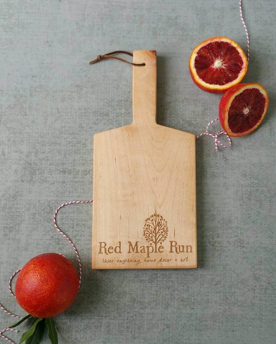 Maple Mini-Boards with handle and Logo Engraving