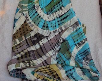 Crepe Georgette Batik painted silk scarf