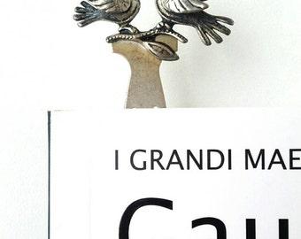 Silver birds, silver bookmark, sterling silver bookmark, small silver bookmark, small silver birds, silver love birds
