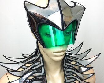 Hammerhead shark mask, futuristic goggles , sci fi eyewear, cyber eyewear, cyborg headmask,robot future glasses,alien mask,space gear
