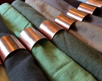 Copper Napkin Rings (Set of 6)