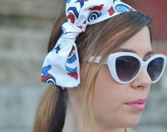 Candies Headband, Hair Accessories, Gift, Vintage Turban, Gift Head Scarf, Cartun Head Scarf, Woman Head Scarf, Cotton Head Wrap, Head Band