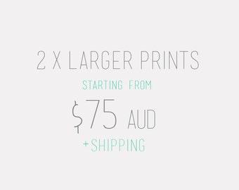 "Select Any 2 x A2 (16.5 x 23.4 ""), 40 x 50cm  or  16x 20"", 50x70cm Large Wall Art,  Giclee Contemporary AMMIKI Art Print"