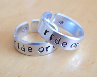 Sister ring etsy for Ride or die jewelry