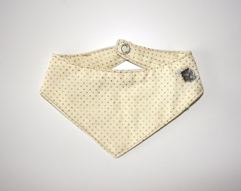 "Dog bandana ""beige with Golden dots"""