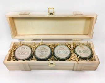 CANDLE GIFT SET. Choose Your Own Scents. Four 4 oz Soy Candles.