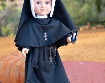 "St. Faustina, Divine Mercy, Congregation of the Sisters of Our Lady of Mercy, 18"" Catholic Doll Clothes"
