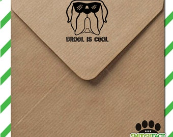Custom Mastiff dog stamp - rubber stamp or self inking, perfect for scrapbooking, greetings cards DIY crafts - mastiff gift idea!