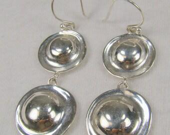Slipada Sterling Retro Revival Dangle Earrings