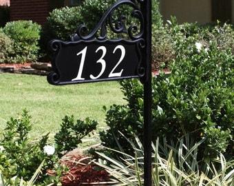 Address America Boardwalk Reflective Sign for Yard -  30, 48, or 60 Inch Post