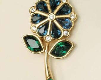 Swarovski Flower Pin
