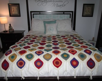 Teardrop Stained Glass Afghan