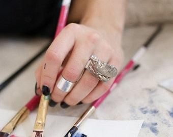 jewelry, ring, porcelain jewelry, porcelain ring, platinum plated, platinum, unique ring, unique, handmade ring, little sculpture, ceramic