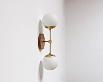 Wall sconce, midcentury light, brass wall lamp