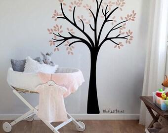 Pink LittleTree Wall Decal-Little Tree vinyl decal-Little tree wall stickers-Tree wall decals - Baby girls deco- Girls Room Deco - Pink Tree