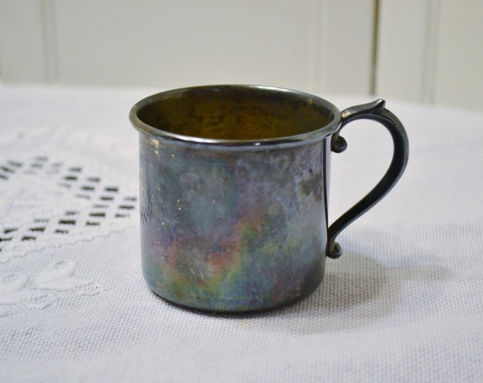 Vintage SIlverplate Baby Cup King Edward Tarnished Silver Ware Nursery Decor Baby Shower Gift  PanchosPorch