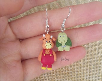 Fantazoo earrings anime manga polymer clay