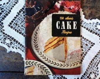 250 Classic CAKE RECIPES- 1954 Culinary Arts Institute Recipe Book-Vintage Cookbook-Ruth Berolzheimer-Recipes-Orphaned Treasure-120816O