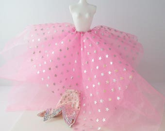 Superstar Barbie Doll Skirt Dress 1988 Superstar Era 1980s Mattel - Under/ Overskirt Only