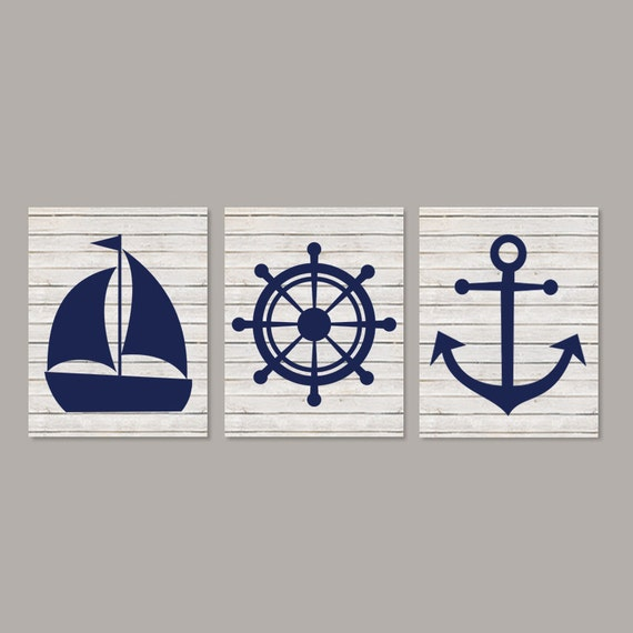 Nautical Wall Decor Nautical Nursery Beach Bathroom Coastal