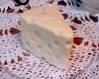 Swiss, Blue Cheese or Cheddar Cheese Wedge soy wax candle