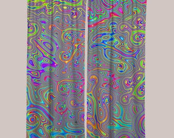 Liquisyrgic Curtain (1 Panel) // Psychedelic Men and Womens Festival Clothing, Accessories & Decor by Samuel Farrand
