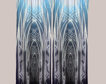 Procession Curtain (1 Panel) // Psychedelic Men and Womens Festival Clothing, Accessories & Decor by Samuel Farrand