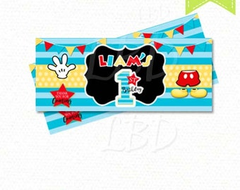 Mickey Mouse Candy Bar Wrappers | Mickey Mouse 1st Birthday | YOU PRINT