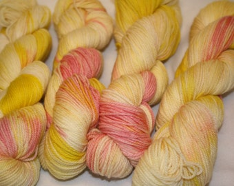 Superwash Hand Dyed Sock Yarn:  Lemon Drops and Gumdrops