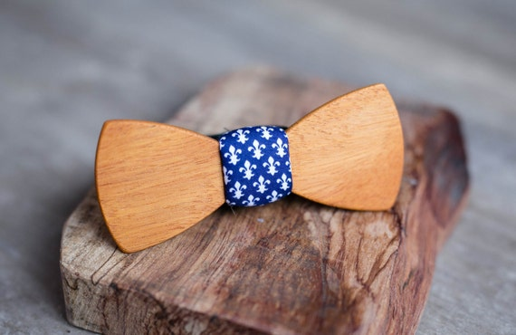 Wood bow tie, african wood bowtie. Heraldic Lily  bowtie, Wedding Gift for Husband, Brother, Valentines, Groomsmen gifts, Birthday gift.