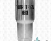 Stainless Steel Tumbler Mockup Photo - Blank Generic Tumbler Mock-Up Image