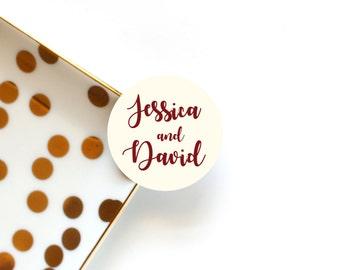 Maroon Wedding Envelope Seals, Wedding Favour Stickers, Envelope Stickers, Wedding Stickers, Wedding Invitation Stickers