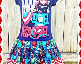 girls Marvel avenger dress hulk size 6/6X 10/12 and 14/16 ready to ship