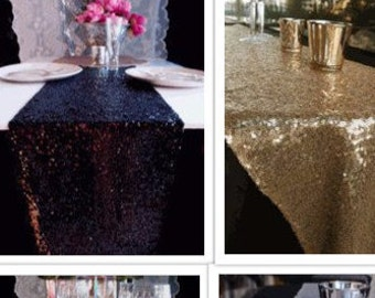 """Sequin Table Runners  12""""W x 108""""L"""