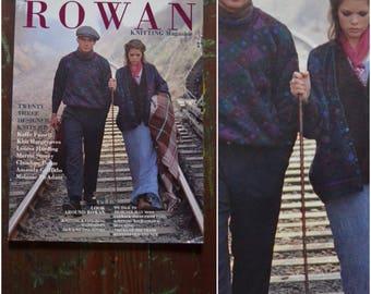Vintage 1990's Rowan Knitting Magazine, Autumn/Winter, 1993 pattern book, 23 knitting patterns with designs by Fassett, Hargreaves, Harding