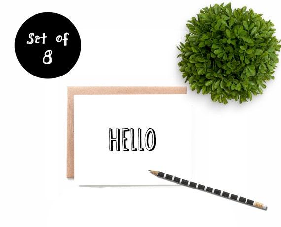 Hello Notecard Set
