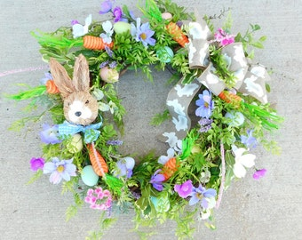 Easter Wreath, Spring Wreath, Wreath For Easter, Easter Door Decor, Easter Bunny Wreath, Easter Decor, Easter Door Wreath