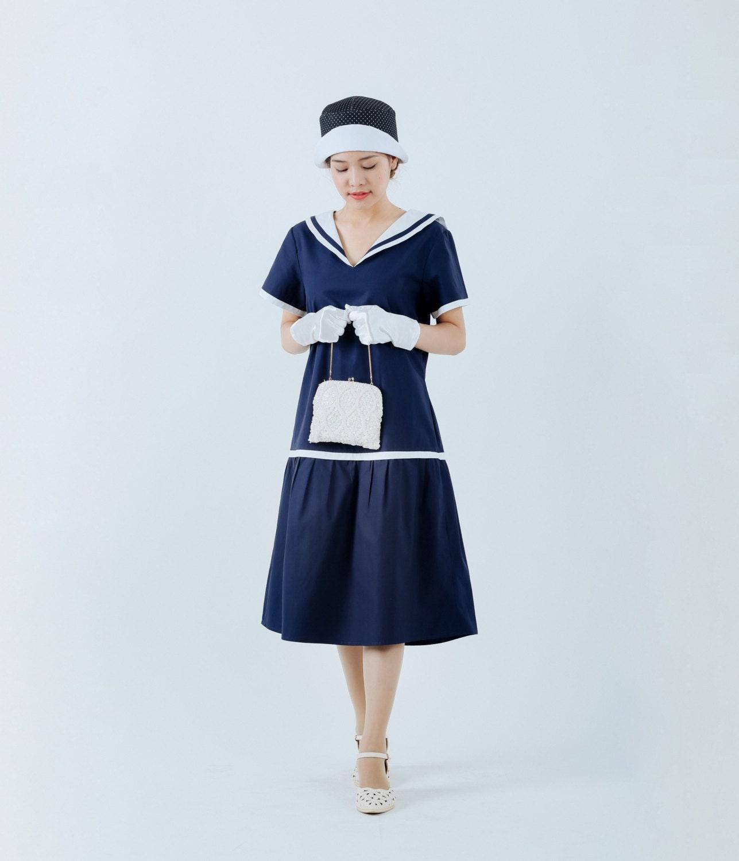 Nautical dress   Etsy