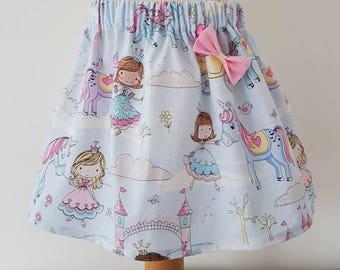 Princess skirt, unicorn, unicorn party, girls skirt, spring clothing, girls clothing, UK
