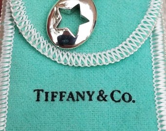 Vintage,Tiffany & Co Sterling Silver Stencil Star Pendant,Tiffany Necklace,Stencil Star Necklace,Vintage Tiffany and Co Silver Necklace