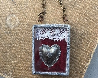 Necklace Milagro soldered box