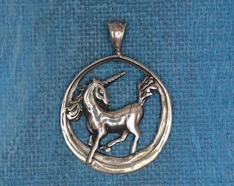 Unicorn Pendant Sterling Silver
