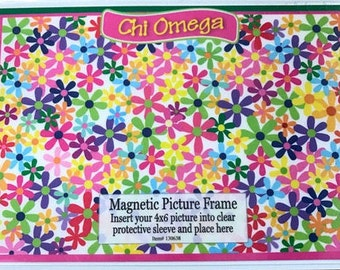 Chi Omega Magnetic Picture Frame