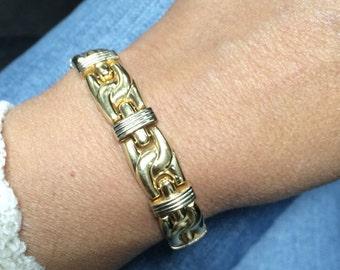 14K Yellow Gold Thick Bracelet 19 Grams!