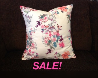40% OFF Blossoms and Birds Cushion Cover - With Pink Back
