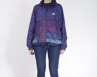 30% OFF SALE - 90s Nike Athletic Old School Hooded Sportswear Windbreaker Jacket / Size L