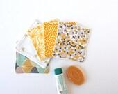 Mix Cotton Scandinavian Geometric Pattern Washable Reusable Cottons- Zero Waste Home - Natural Beauty