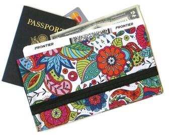 Passport Wallet, Boarding Pass Holder, Women's Travel Organizer, Family of 1-6 Passport Case, Long Travel Wallet, Bridesmaid Womens Gift