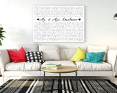 unique wedding gift | wedding vows on canvas | anniversary gift | wedding vow art | gift for husband | Christmas gift | cotton anniversary